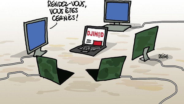 réseaux sociaux, djihadisme, cyber-terroristes